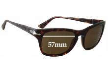 Sunglass Fix Sunglass Replacement Lenses for Persol 3072-S - 57mm Wide
