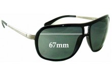 Sunglass Fix Sunglass Replacement Lenses for Police S8291 - 67mm Wide