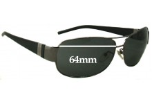 Sunglass Fix Sunglass Replacement Lenses for Police S8338 - 64mm Wide