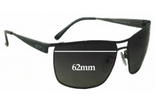 Sunglass Fix Sunglass Replacement Lenses for Police S8516 - 62mm Wide