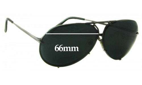 Sunglass Fix Sunglass Replacement Lenses for Porsche Design P 8478 - 66mm Wide