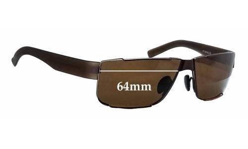 Sunglass Fix Sunglass Replacement Lenses for Porsche Design P 8509 - 64mm Wide