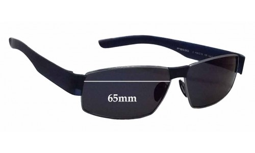 Sunglass Fix Sunglass Replacement Lenses for Porsche Design P 8530 - 65mm Wide