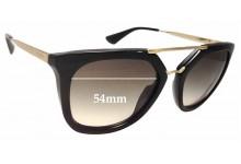 Sunglass Fix Sunglass Replacement Lenses for Prada SPR13Q - 54mm Wide