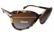 Sunglass Fix Sunglass Replacement Lenses for Prada SPR15P - 59mm Wide