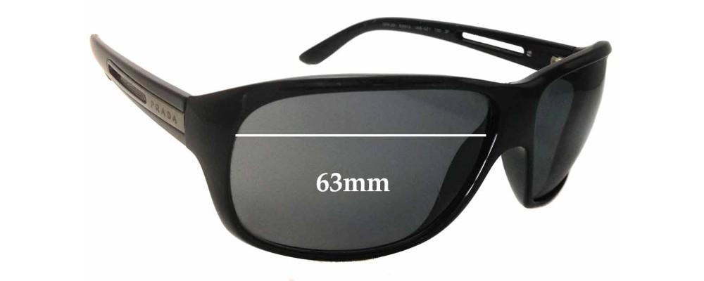 Sunglass Fix Sunglass Replacement Lenses for Prada SPR22I - 63mm Wide