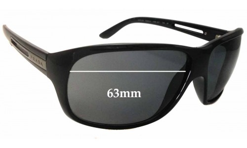 Sunglass Fix Sunglass Replacement Lenses for Prada SPR22I - 63mm Wide