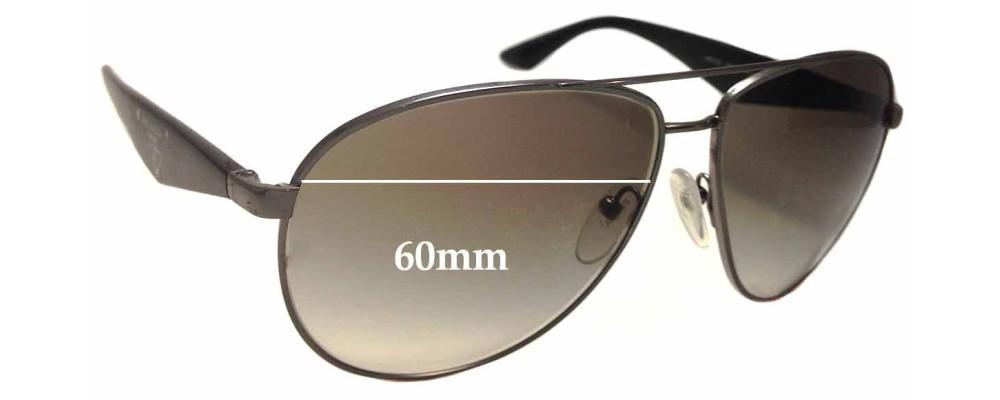 Sunglass Fix Sunglass Replacement Lenses for Prada SPR53Q - 60mm Wide