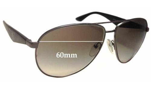 Sunglass Fix Sunglass Replacement Lenses for Prada SPR 53Q - 60mm Wide
