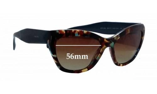 Sunglass Fix Sunglass Replacement Lenses for Prada SPR02Q - 56mm wide