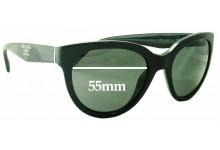Sunglass Fix Sunglass Replacement Lenses for Prada SPR05P - 55mm Wide