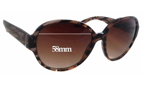 Sunglass Fix Sunglass Replacement Lenses for Prada SPR06M - 58mm Wide