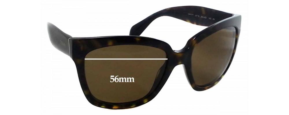 5c5971706761 Sunglass Fix Sunglass Replacement Lenses for Prada SPR 07P - 56x44mm Wide