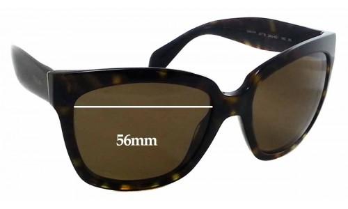 Sunglass Fix Sunglass Replacement Lenses for Prada SPR 07P - 56x44mm Wide