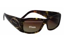 Sunglass Fix Sunglass Replacement Lenses for Prada SPR10H - 57mm Wide