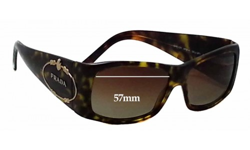 Sunglass Fix Sunglass Replacement Lenses for Prada SPR10H - 57mm Wide
