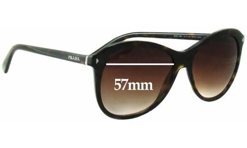 Sunglass Fix Sunglass Replacement Lenses for Prada SPR13R - 57mm wide