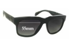 Sunglass Fix Sunglass Replacement Lenses for Prada SPR14Q - 55mm Wide
