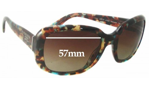 Sunglass Fix Sunglass Replacement Lenses for Prada SPR17P - 57mm Wide