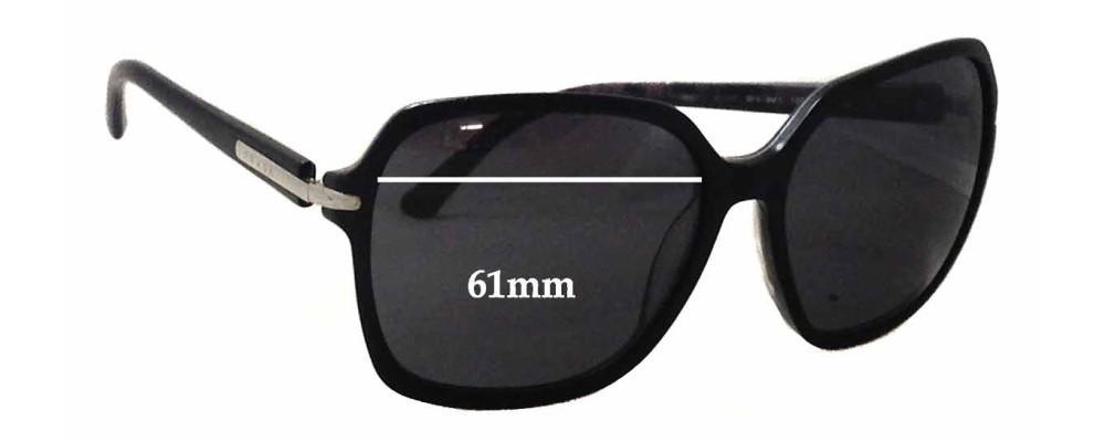Sunglass Fix Sunglass Replacement Lenses for Prada SPR18N - 61mm Wide