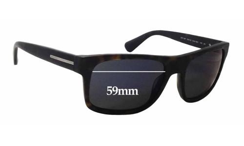 Sunglass Fix Sunglass Replacement Lenses for Prada SPR18P - 59mm Wide x 42mm Tall