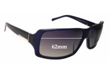 Sunglass Fix Sunglass Replacement Lenses for Prada SPR24G - 62mm Wide