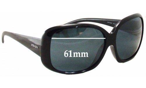 Sunglass Fix Sunglass Replacement Lenses for Prada SPR25N - 61mm Wide