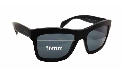 Sunglass Fix Sunglass Replacement Lenses for Prada SPR25Q - 56mm Wide x 41mm Tall
