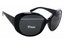 Sunglass Fix Sunglass Replacement Lenses for Prada SPR26O - 57mm Wide
