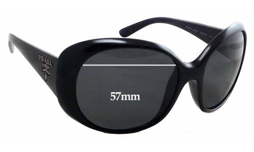 Sunglass Fix Sunglass Replacement Lenses for Prada SPR26O - 57mm Wide