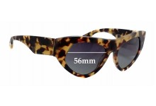Sunglass Fix Sunglass Replacement Lenses for Prada SPR27Q - 56mm Wide