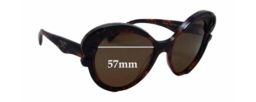 Sunglass Fix Sunglass Replacement Lenses for Prada SPR28N - 57mm Wide x 53mm Tall
