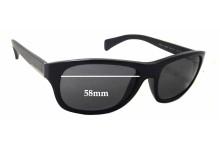 Sunglass Fix Sunglass Replacement Lenses for Prada SPR29N - 58mm Wide x 44mm Tall