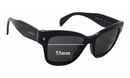 Sunglass Fix Sunglass Replacement Lenses for Prada SPR29R-F - 53mm Wide x 40mm Tall
