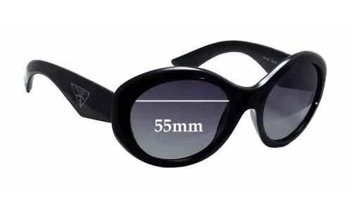 Sunglass Fix Sunglass Replacement Lenses for Prada SPR30P - 55mm Wide