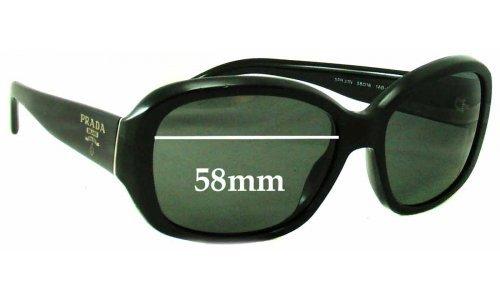 Sunglass Fix Sunglass Replacement Lenses for Prada SPR31N - 58mm Wide