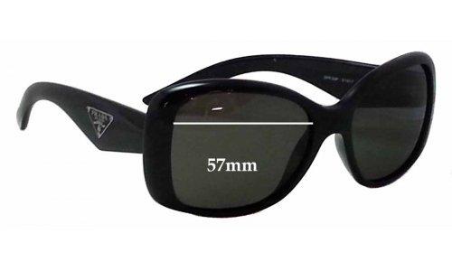 Sunglass Fix Sunglass Replacement Lenses for Prada SPR32P - 57mm Wide