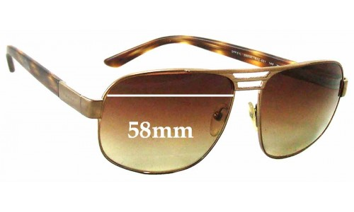 Sunglass Fix Sunglass Replacement Lenses for Prada SPR51L - 58mm wide