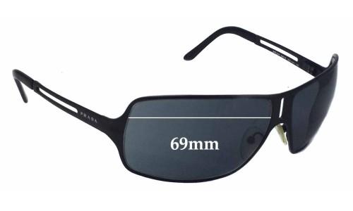 Sunglass Fix Sunglass Replacement Lenses for Prada SPR54H - 69mm wide