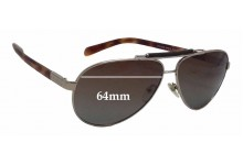 Sunglass Fix Sunglass Replacement Lenses for Prada SPR54N - 64mm Wide