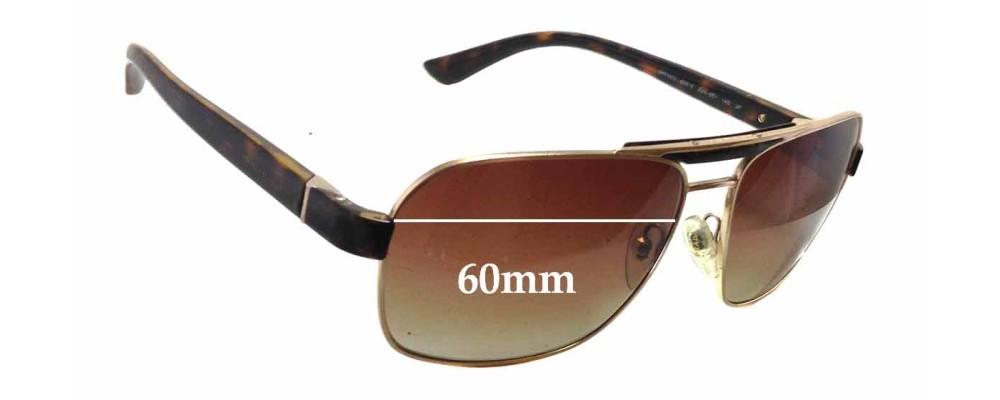 Sunglass Fix Sunglass Replacement Lenses for Prada SPR55O - 60mm Wide