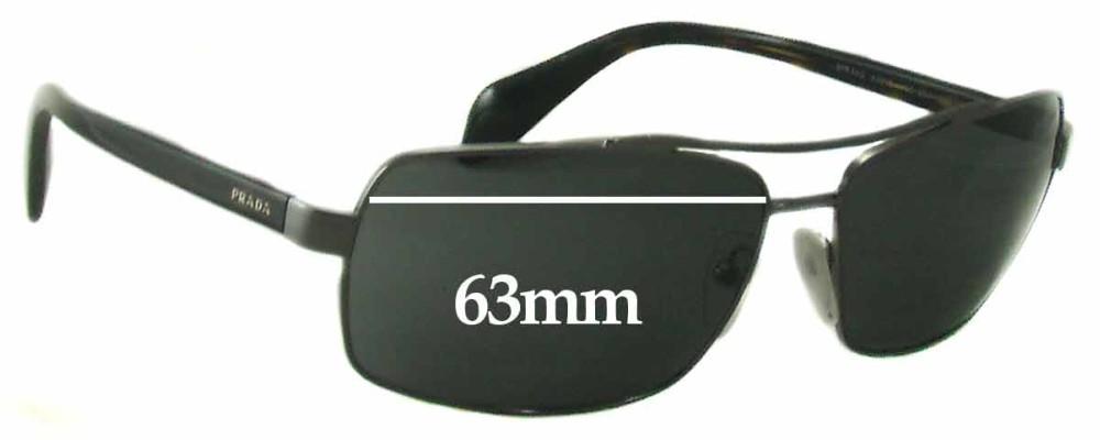 Sunglass Fix Sunglass Replacement Lenses for Prada SPR55Q - 63mm Wide