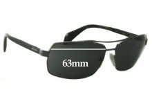 Sunglass Fix Sunglass Replacement Lenses for Prada SPR55Q - 63mm Wide