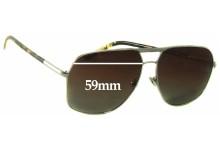 Sunglass Fix Sunglass Replacement Lenses for Prada SPR57M - 59mm Wide