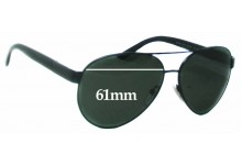 Sunglass Fix Sunglass Replacement Lenses for Prada SRPR59N - 61mm Wide