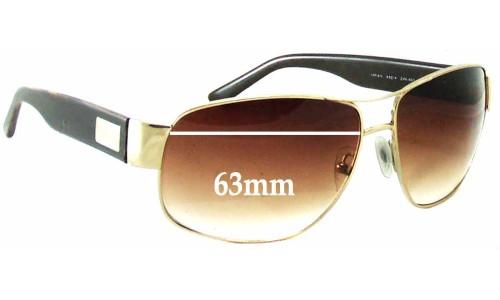 Sunglass Fix Sunglass Replacement Lenses for Prada SPR61L - 63mm Wide
