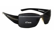 Sunglass Fix Sunglass Replacement Lenses for Prada SPR70H - 67mm Wide