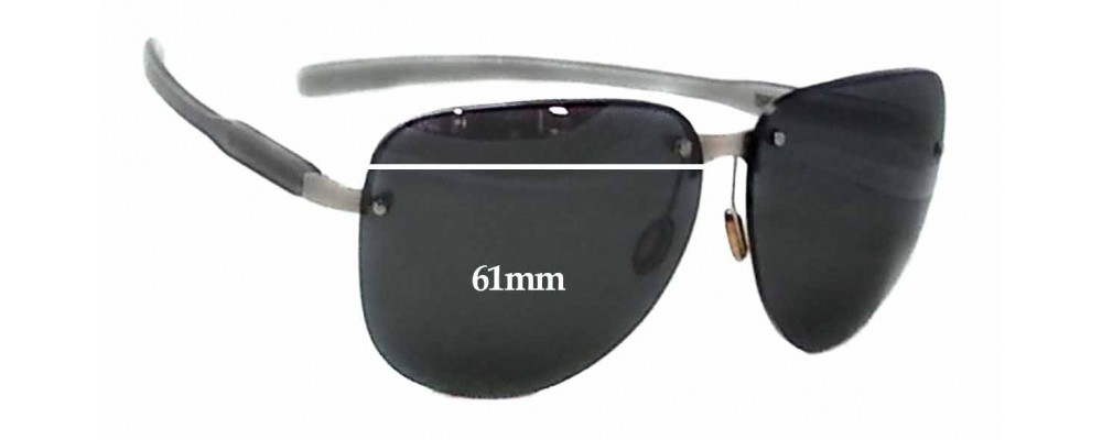 Sunglass Fix Sunglass Replacement Lenses for Prada SPS90A - 61mm Wide