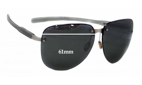 Sunglass Fix Sunglass Replacement Lenses for Prada SPS90A - 61mm wide