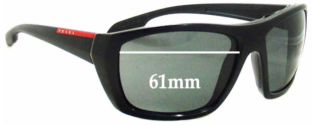 Sunglass Fix Sunglass Replacement Lenses for Prada SPS01O - 61mm Wide